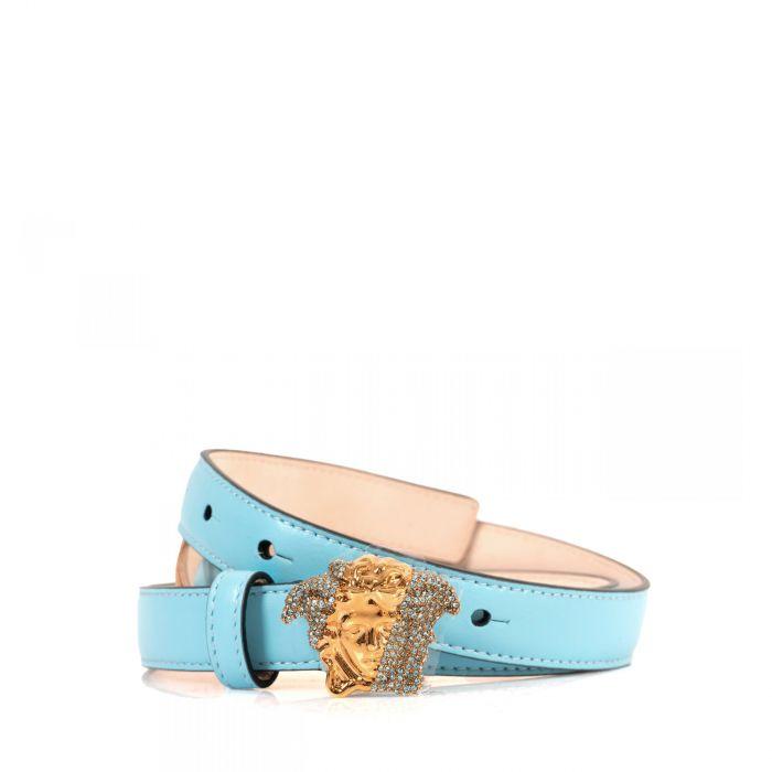 Ремень Versace PALAZZO DIA голубой