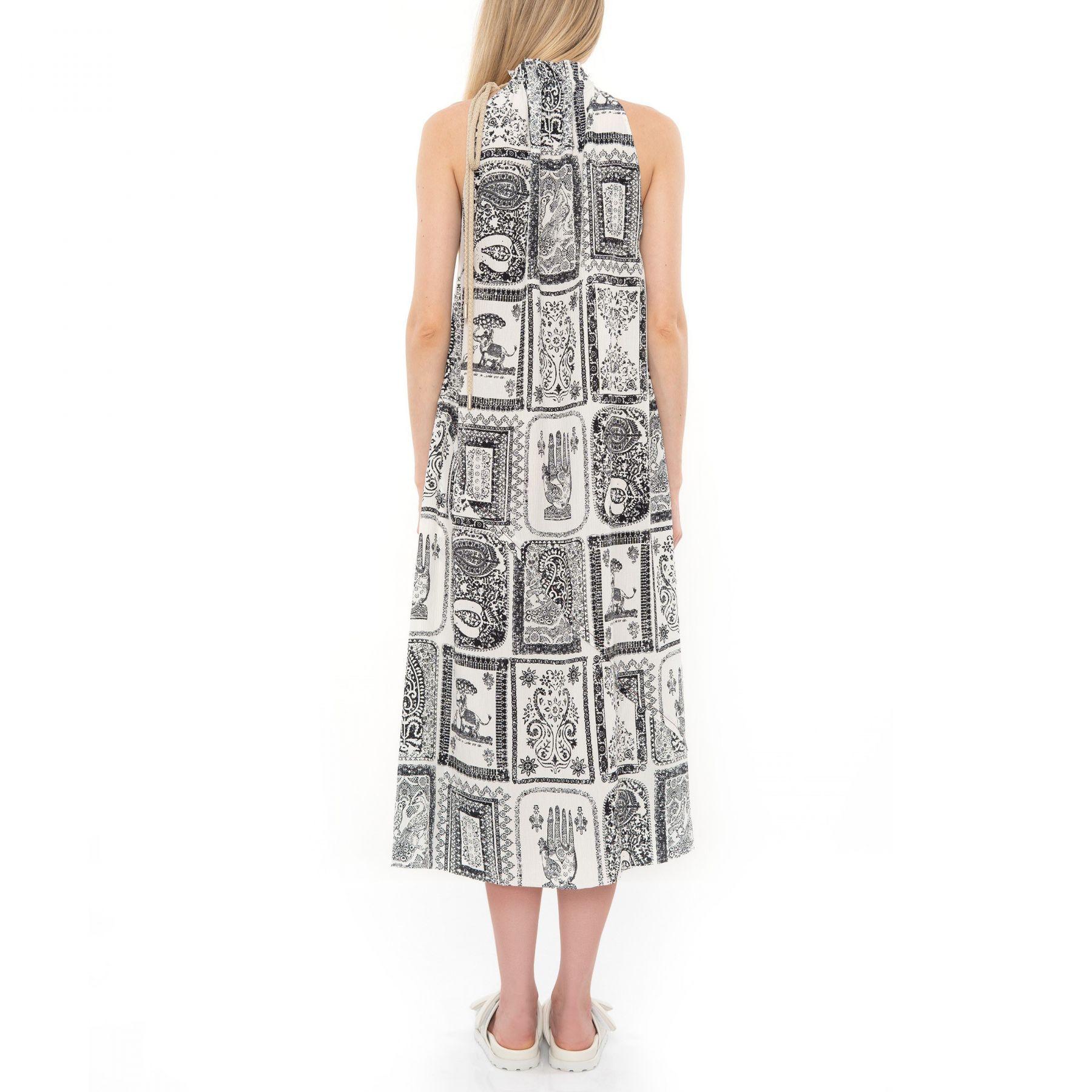 Платье Acne Studios черно-белое