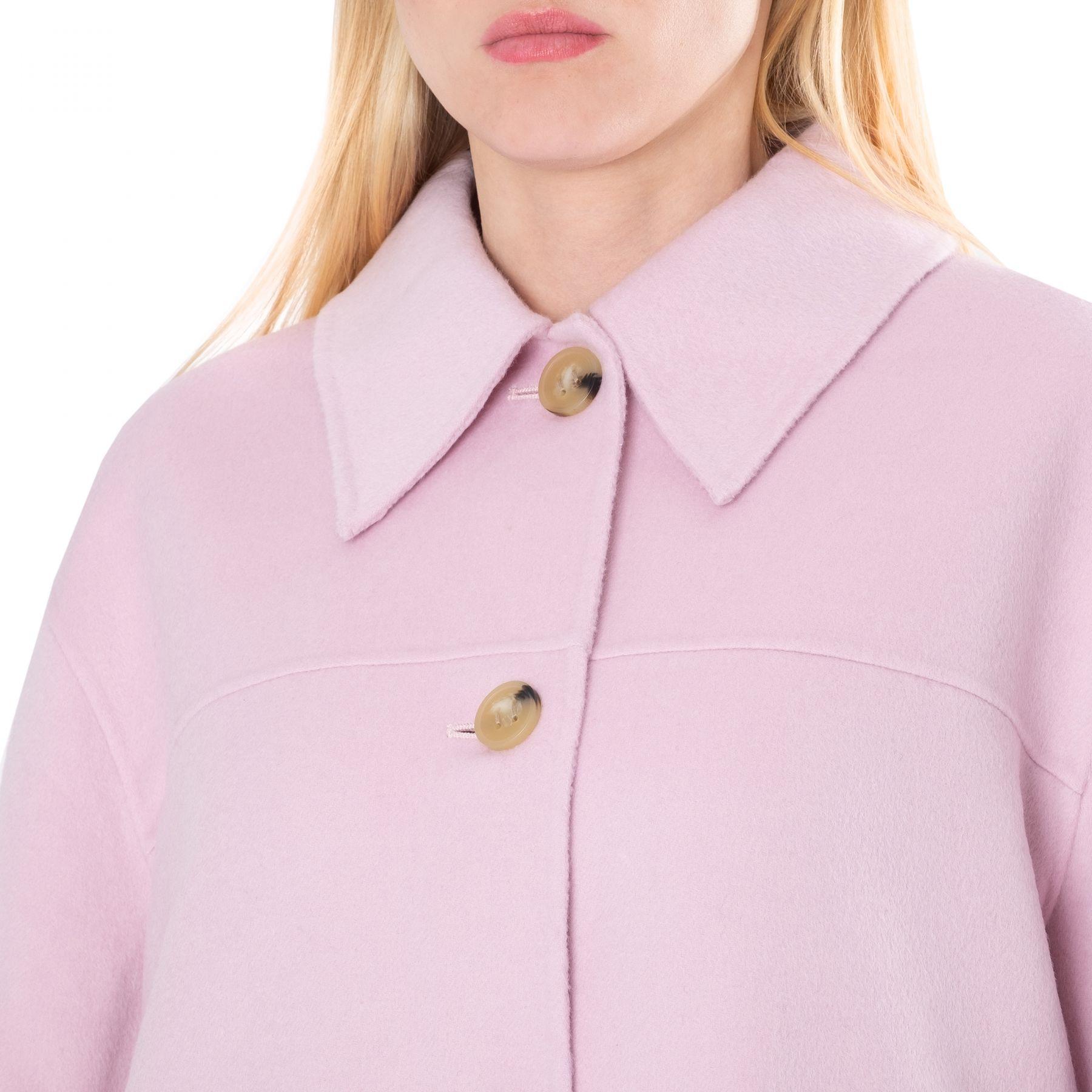 Полупальто Acne Studios розовое