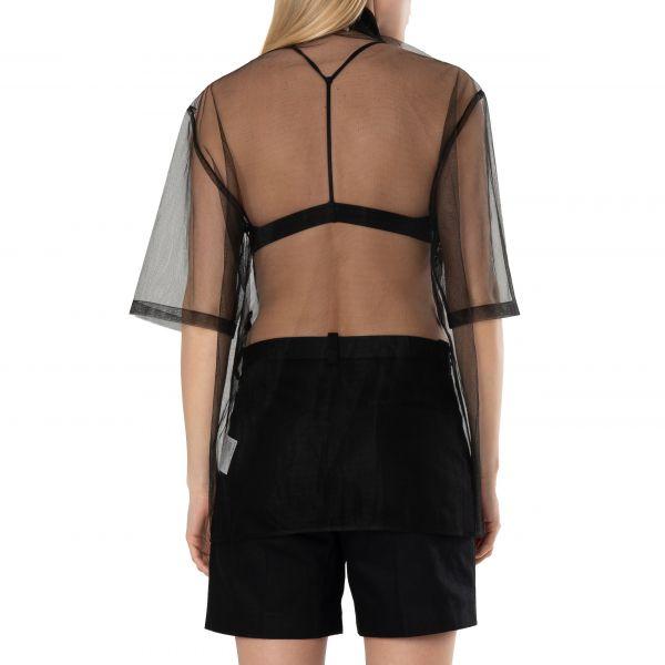 Рубашка с короткими рукавами Acne Studios черная