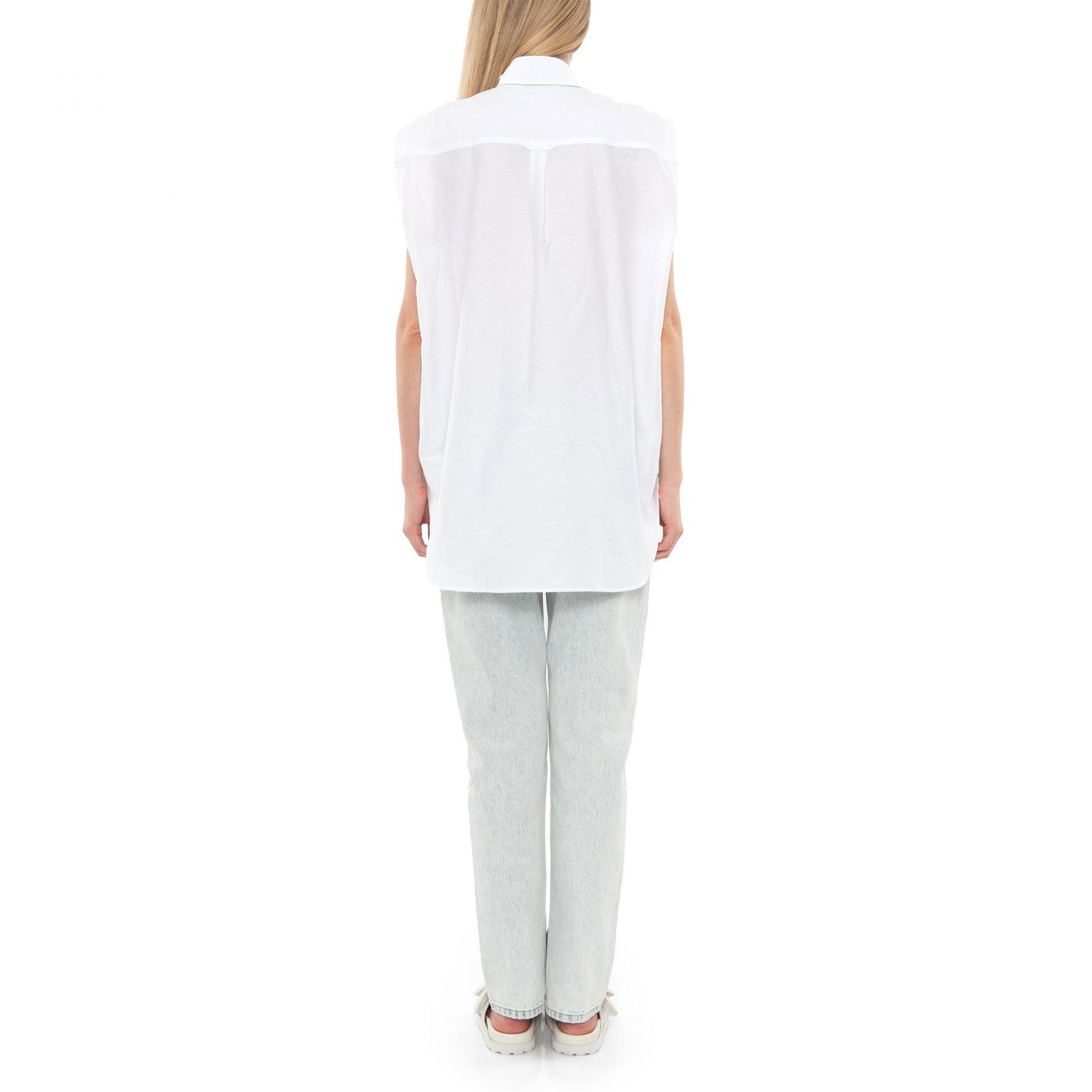 Рубашка с короткими рукавами Acne Studios белая