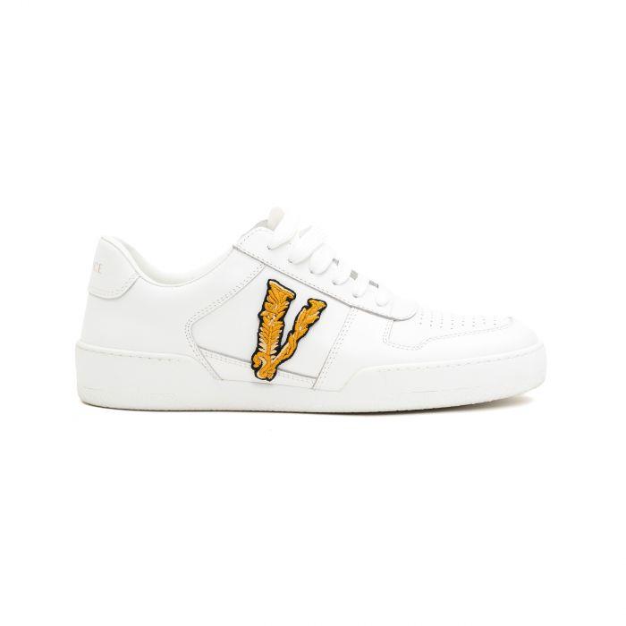 Сникеры Versace Virtus V бело-золотые