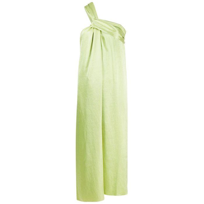 Платье Nanushka  Zena лаймовое