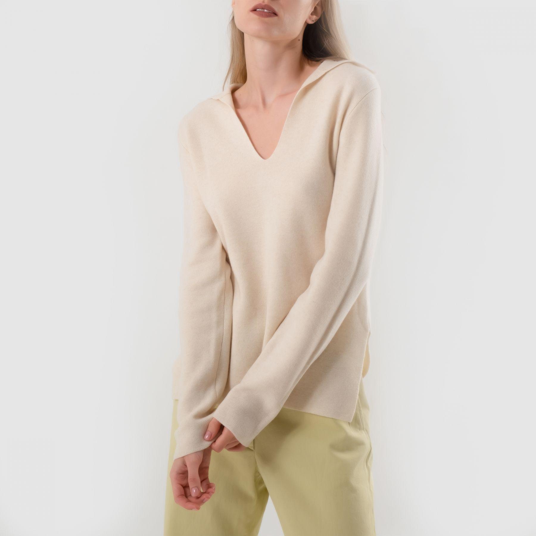 Пуловер Vince светло-бежевый