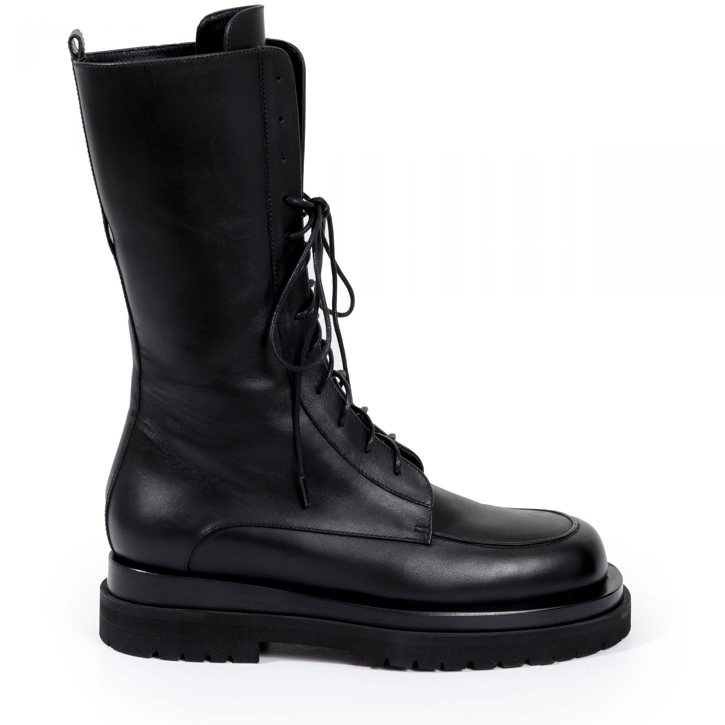 Ботинки флет Magda Butrym Combat черные