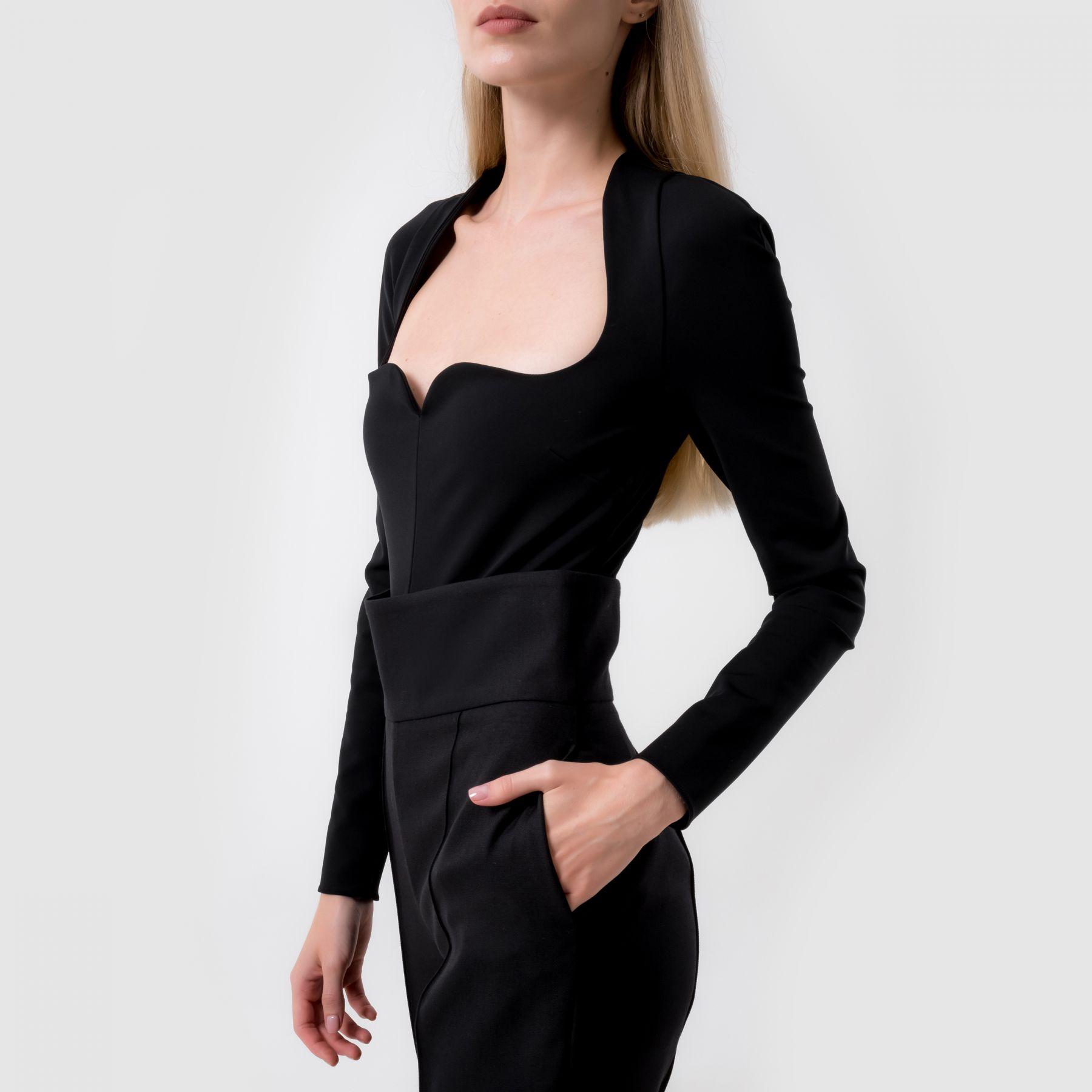 Боди Versace черное