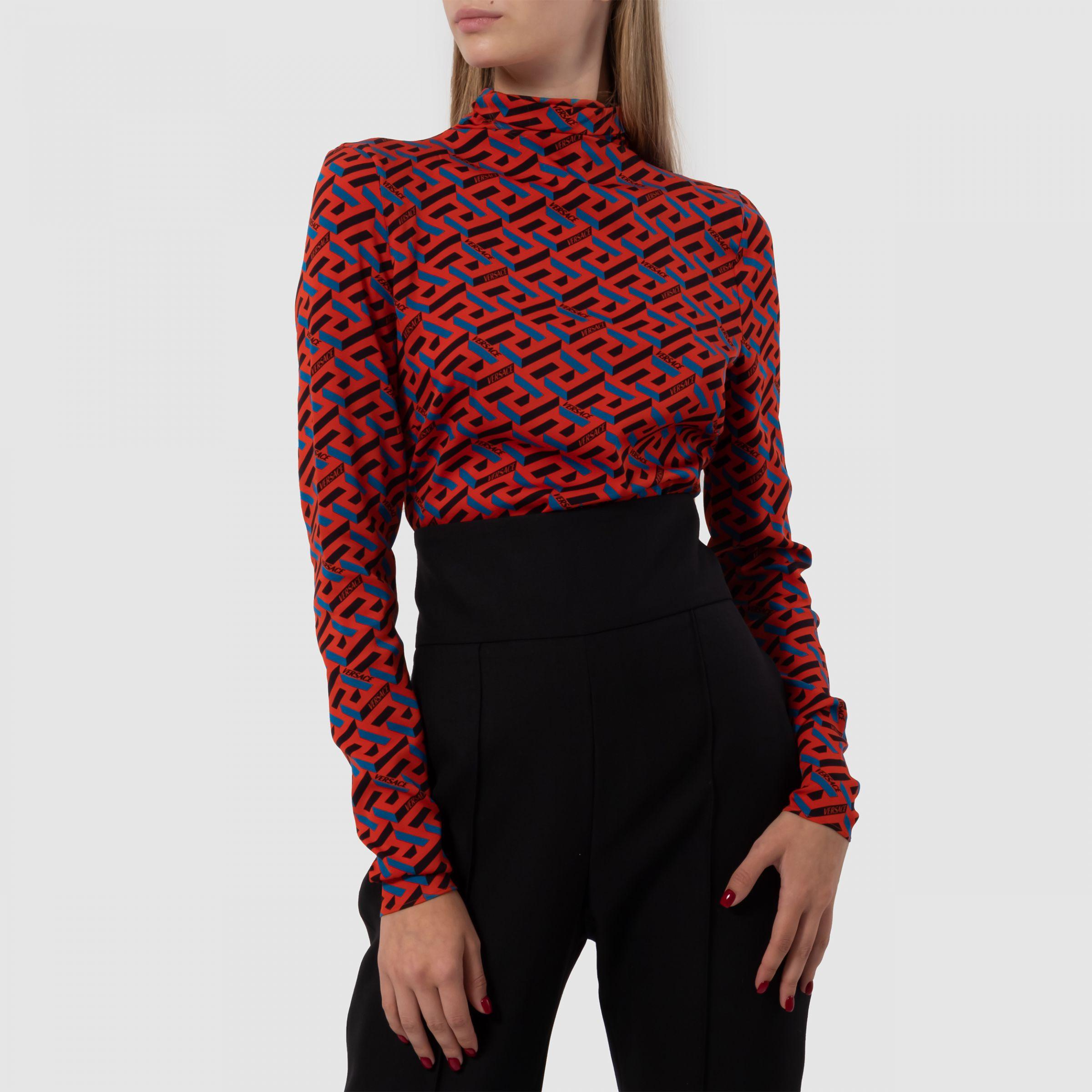 Боди Versace красное