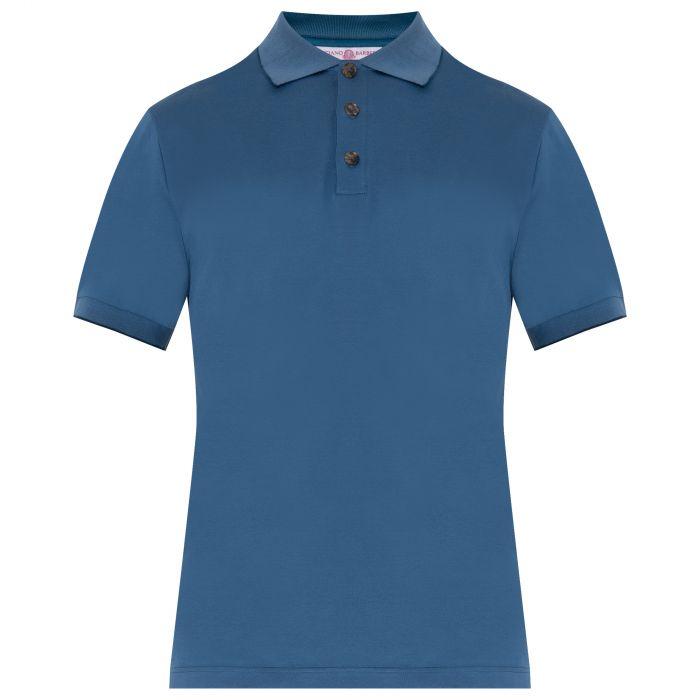 Поло Luciano Barbera синее