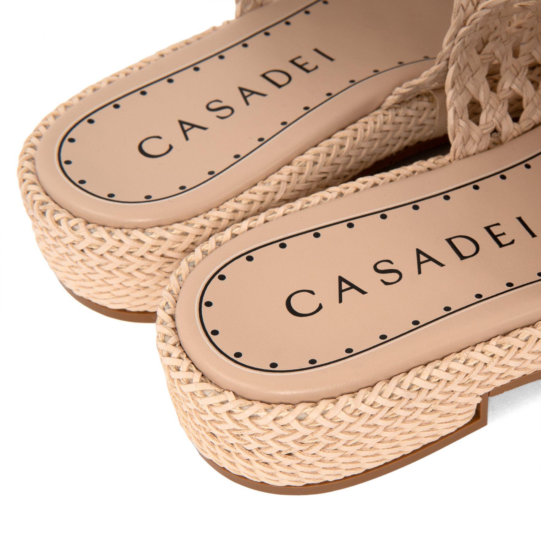 Шлепанцы Casadei бежевые