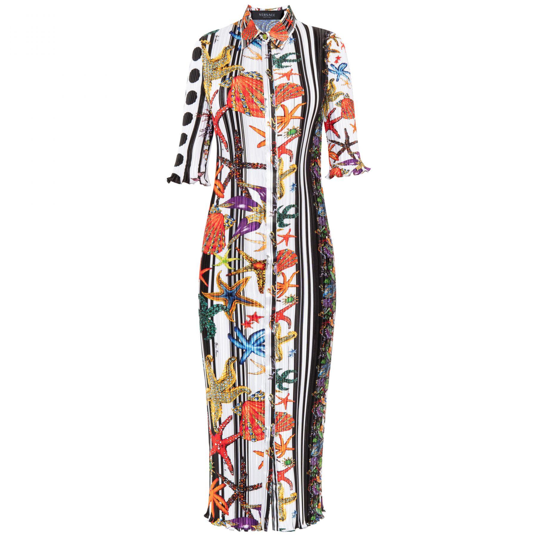 Платье Versace разноцветное