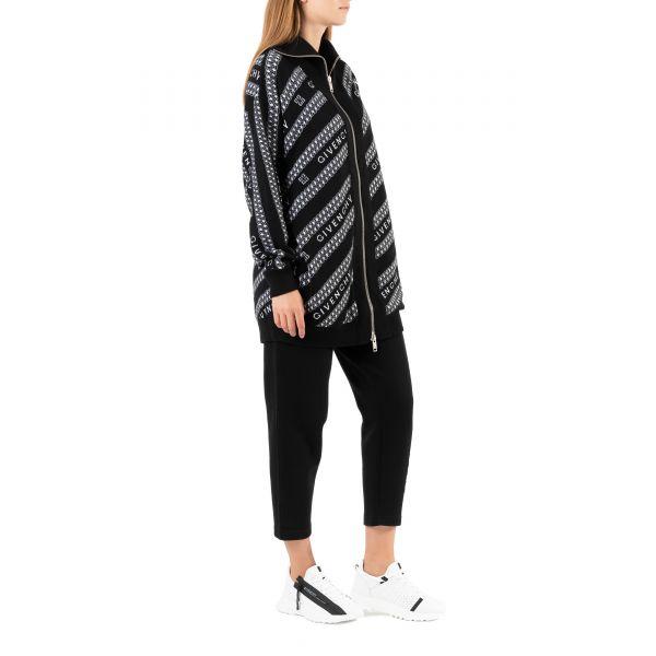 Кардиган Givenchy черно-белый
