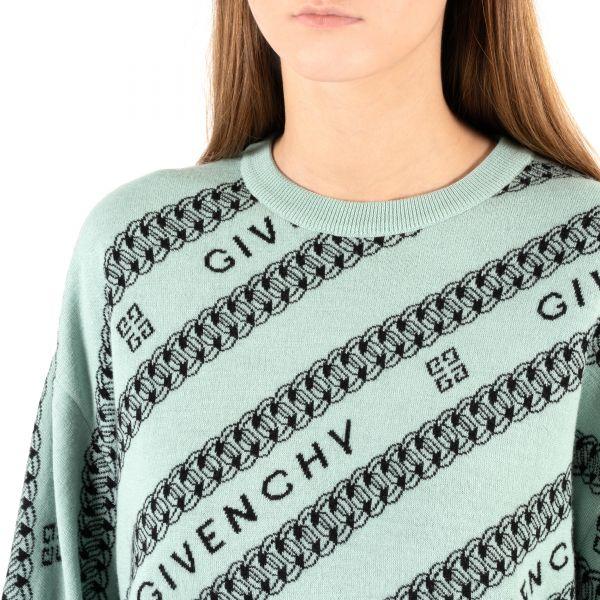 Свитер Givenchy ментоловый