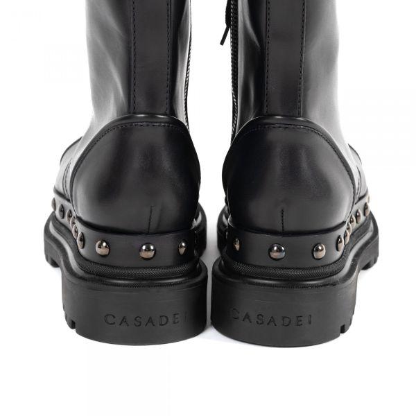 Ботинки флет Casadei черные