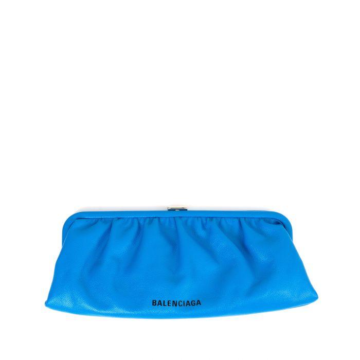 Клатч Balenciaga Cloud синий