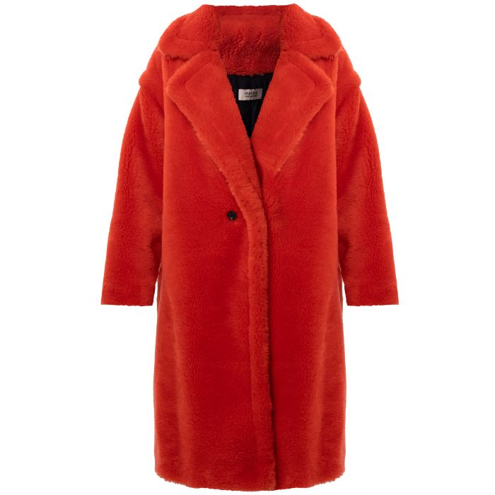 Пальто Yves Salomon красное