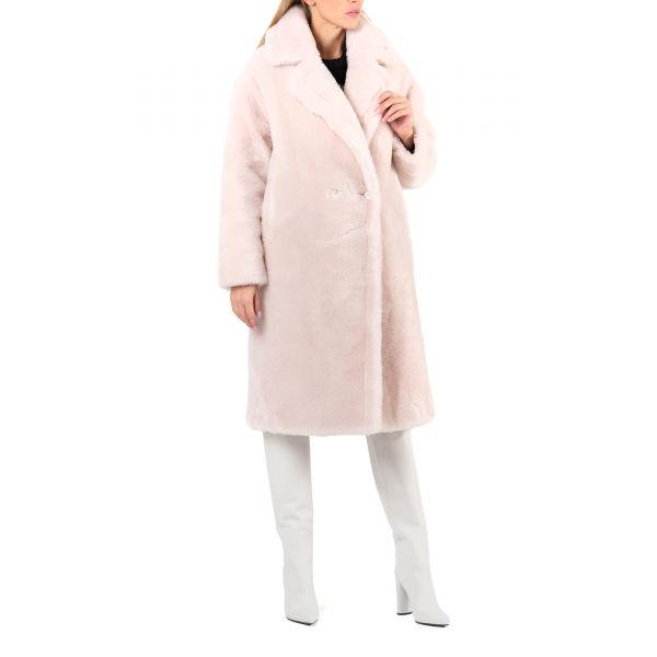 Пальто Yves Salomon пудровое