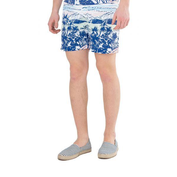 Шорты для плавания Orlebar Brown бело-синие