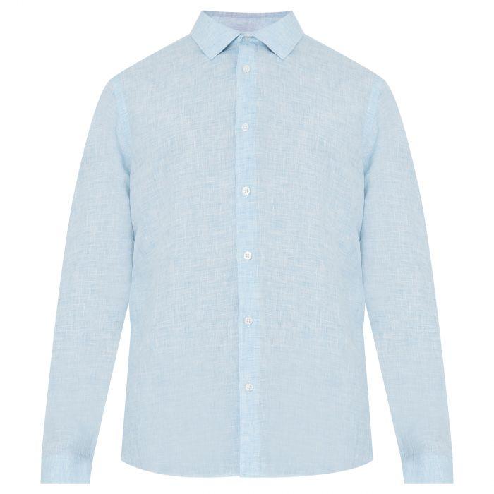 Рубашка с длинными рукавами Orlebar Brown Giles голубая