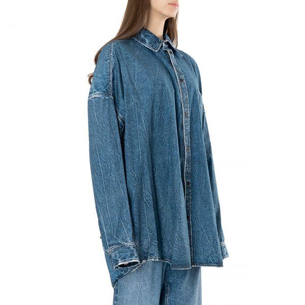 Рубашка с длинными рукавами Balenciaga голубая