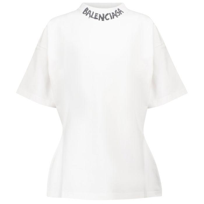 Футболка Balenciaga Scribble белая