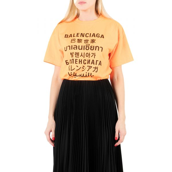 Футболка Balenciaga оранжевая