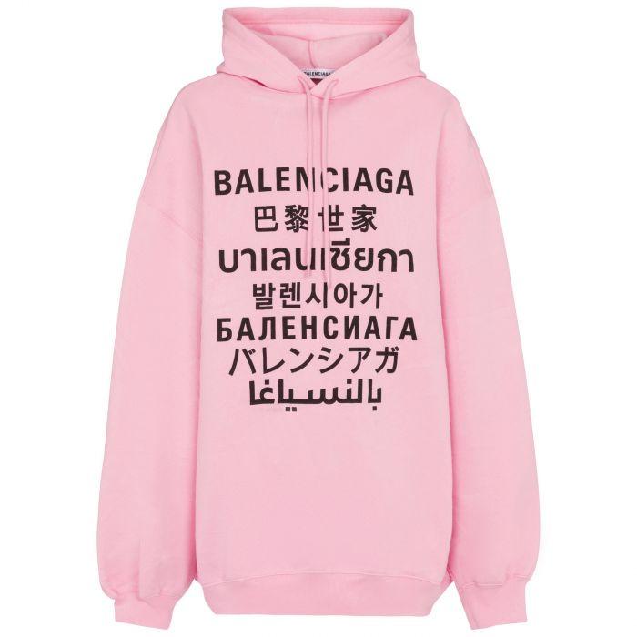 Худи Balenciaga розовое