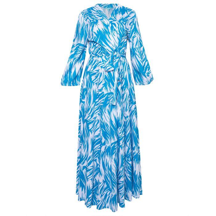 Платье длинное Melissa Odabash Gabby синее