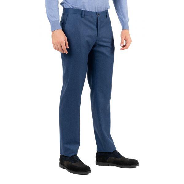 Брюки Bertolo Cashmere сине-голубые