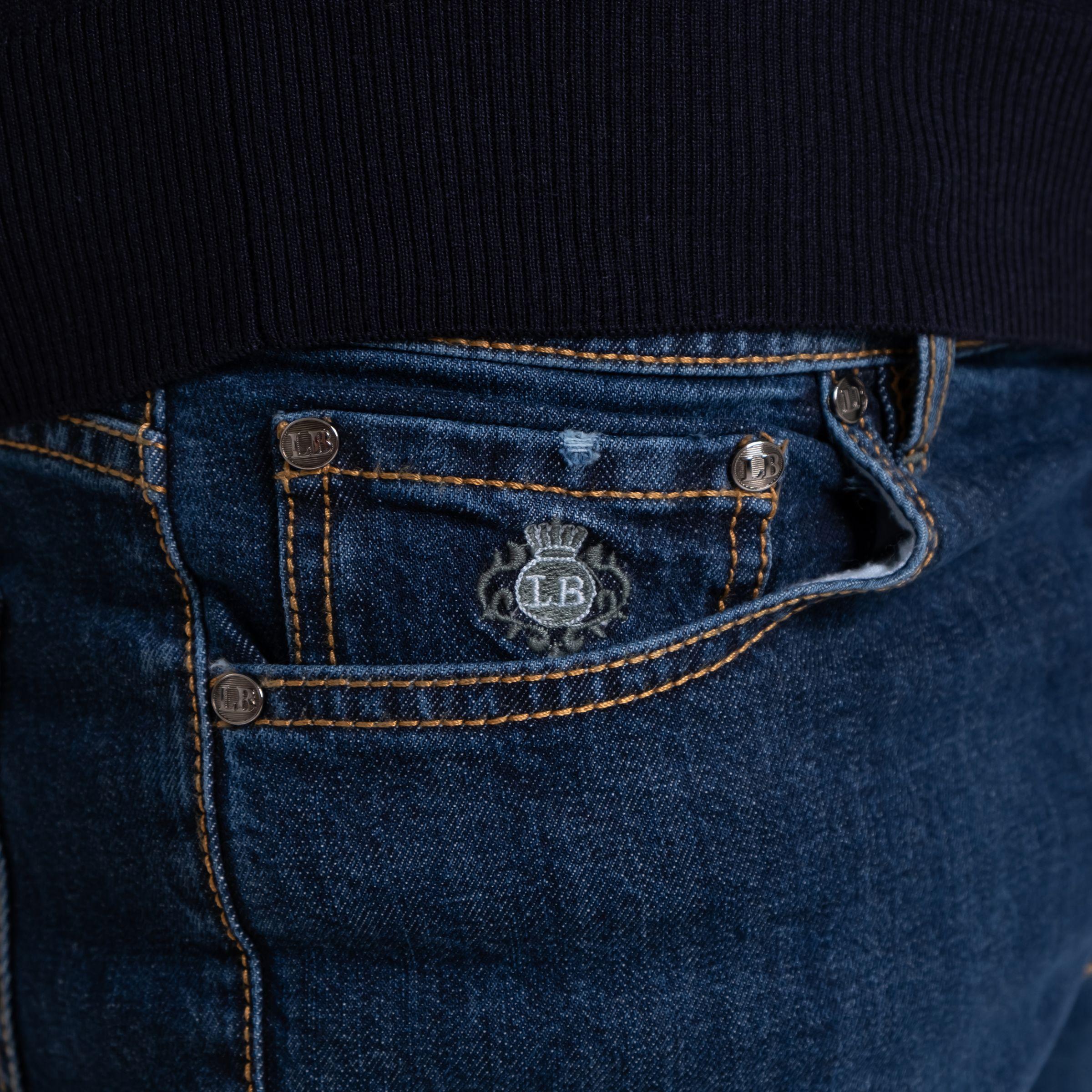 Джинсы Luigi Borrelli синие