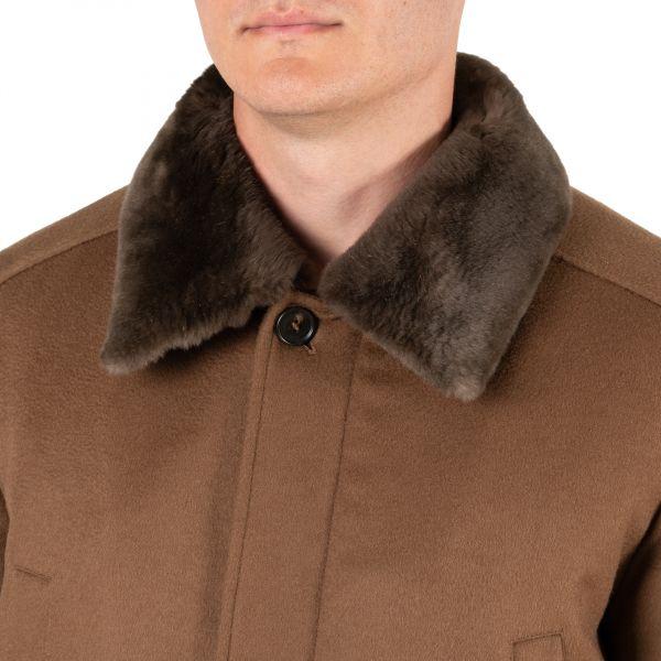 Пальто Corneliani коричневое