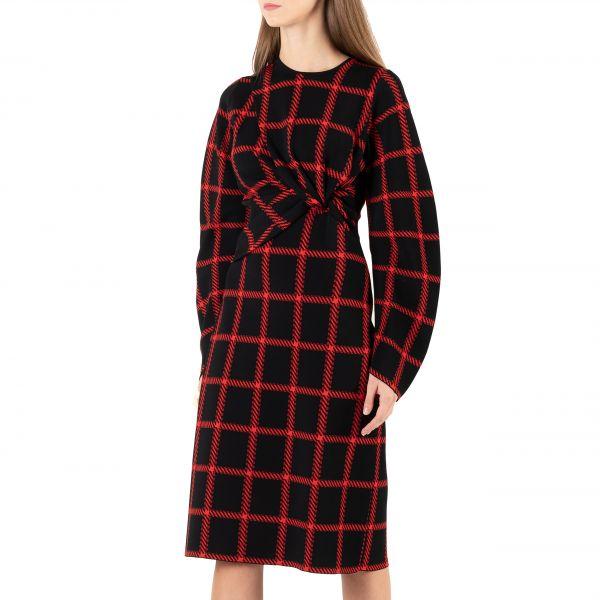Платье Stella McCartney черно-красное