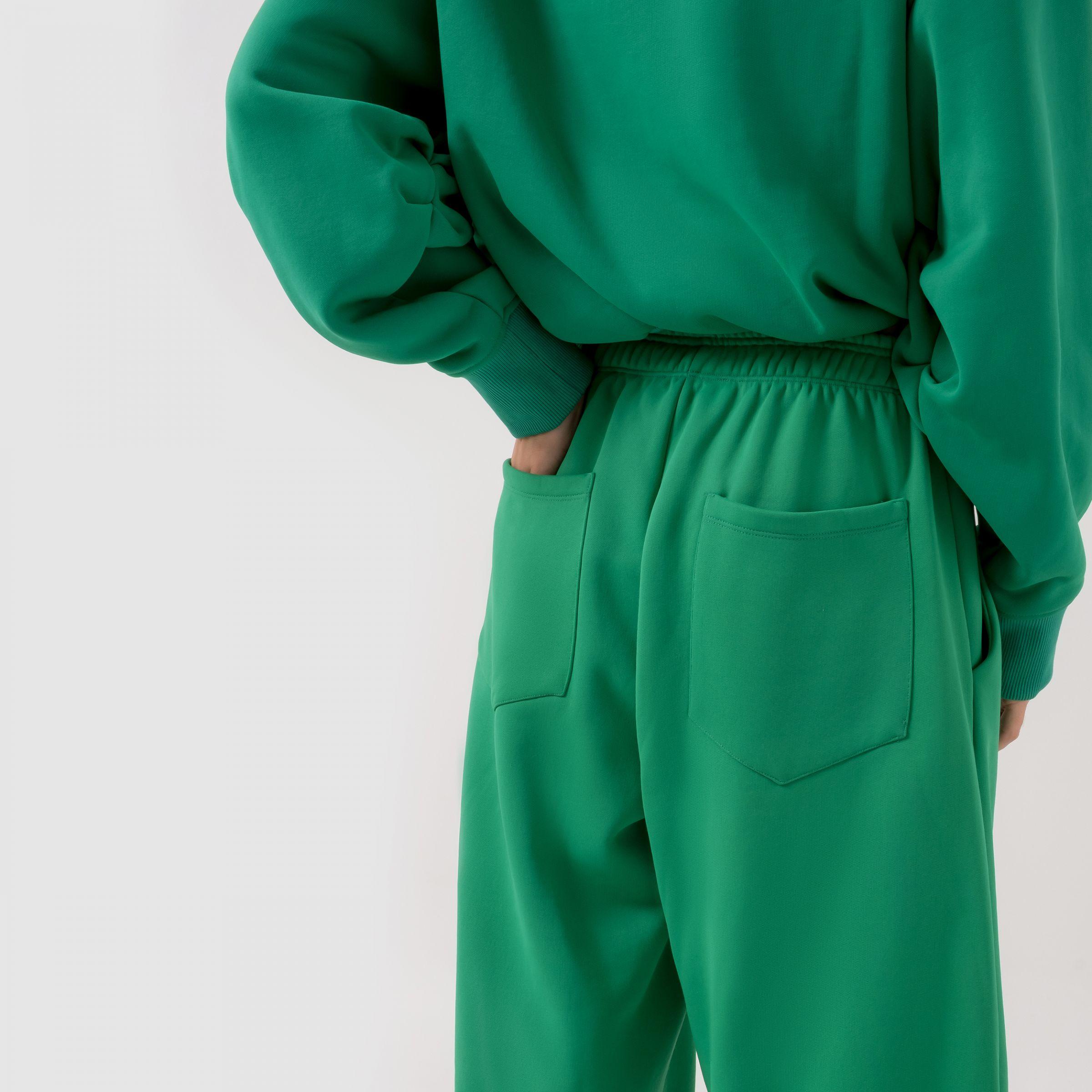 Брюки The Attico Carter зеленые