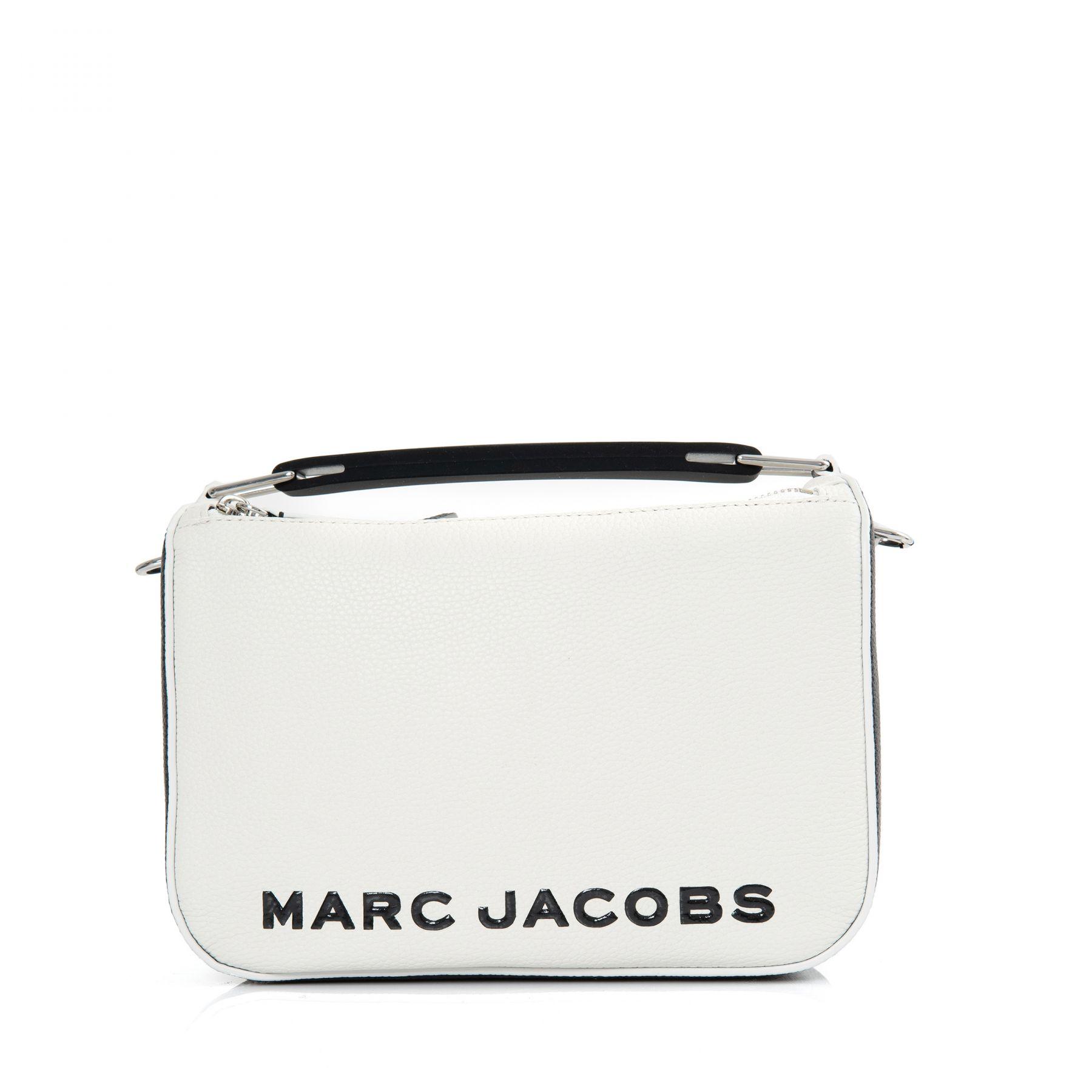 Сумка Marc Jacobs THE COLORBLOCK SOFTBOX бело-черная