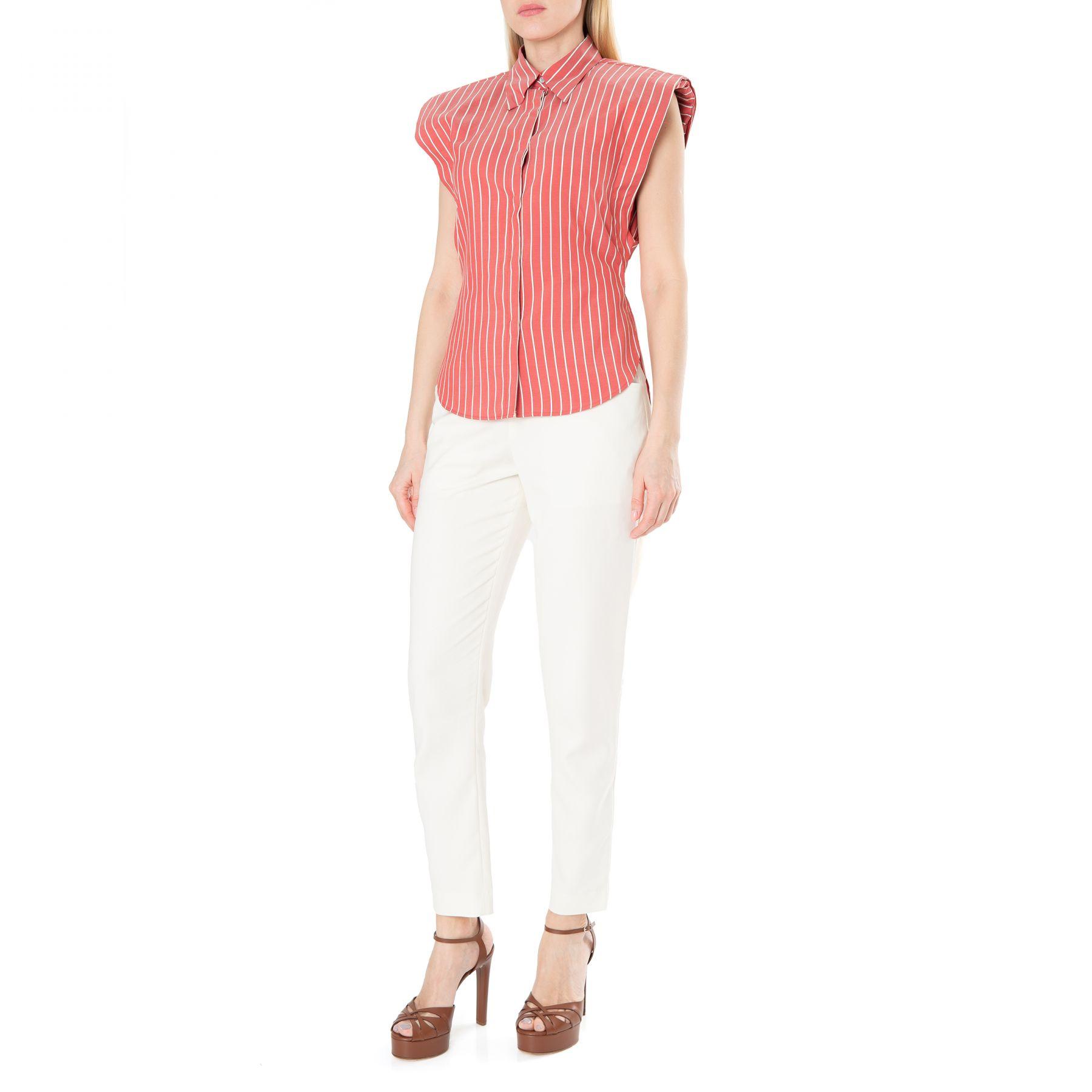 Рубашка с короткими рукавами Isabel Marant Enza красная