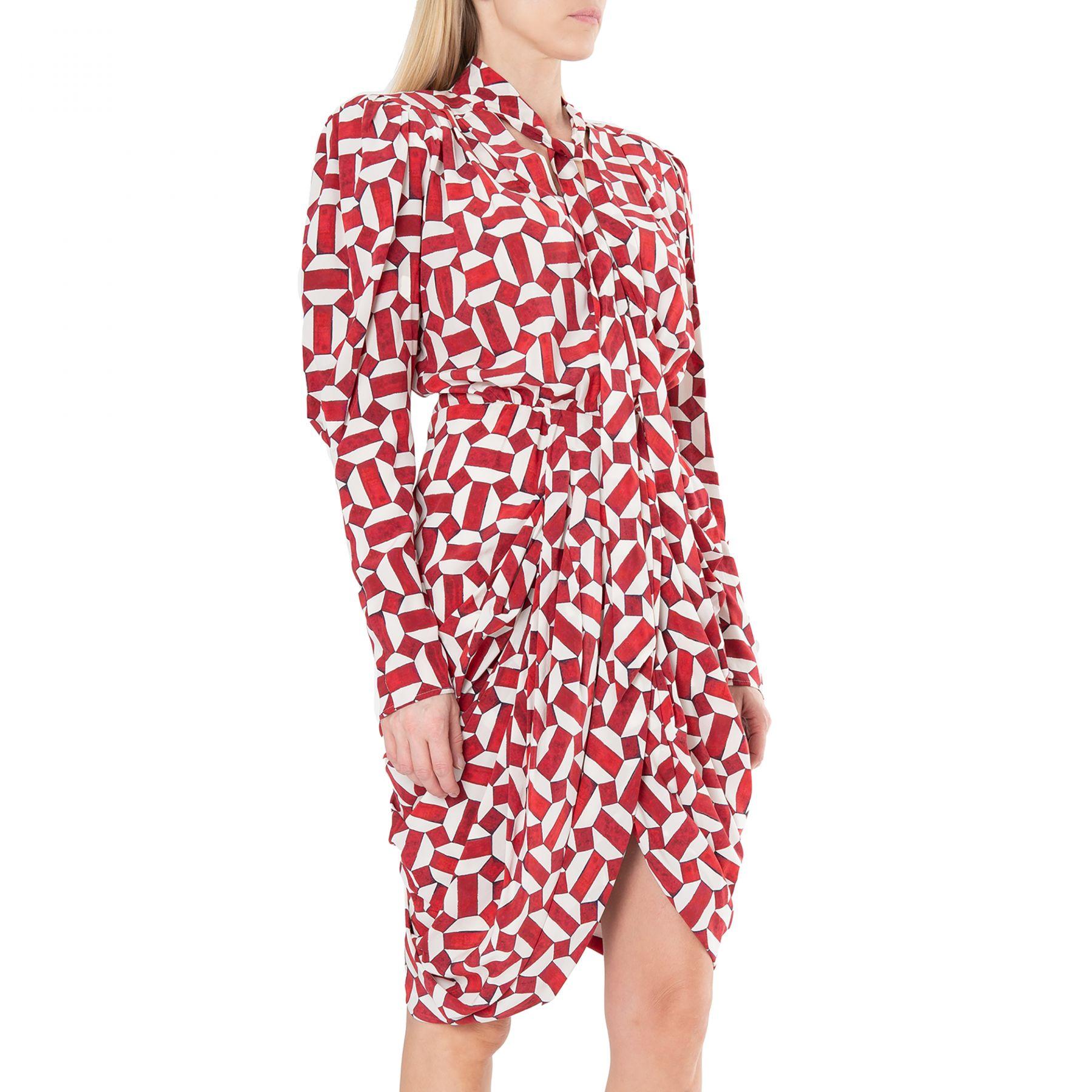 Платье Isabel Marant Atoae красно-белое