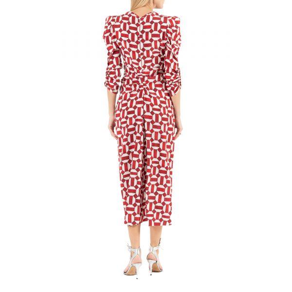 Платье Isabel Marant ALBI красно-белое