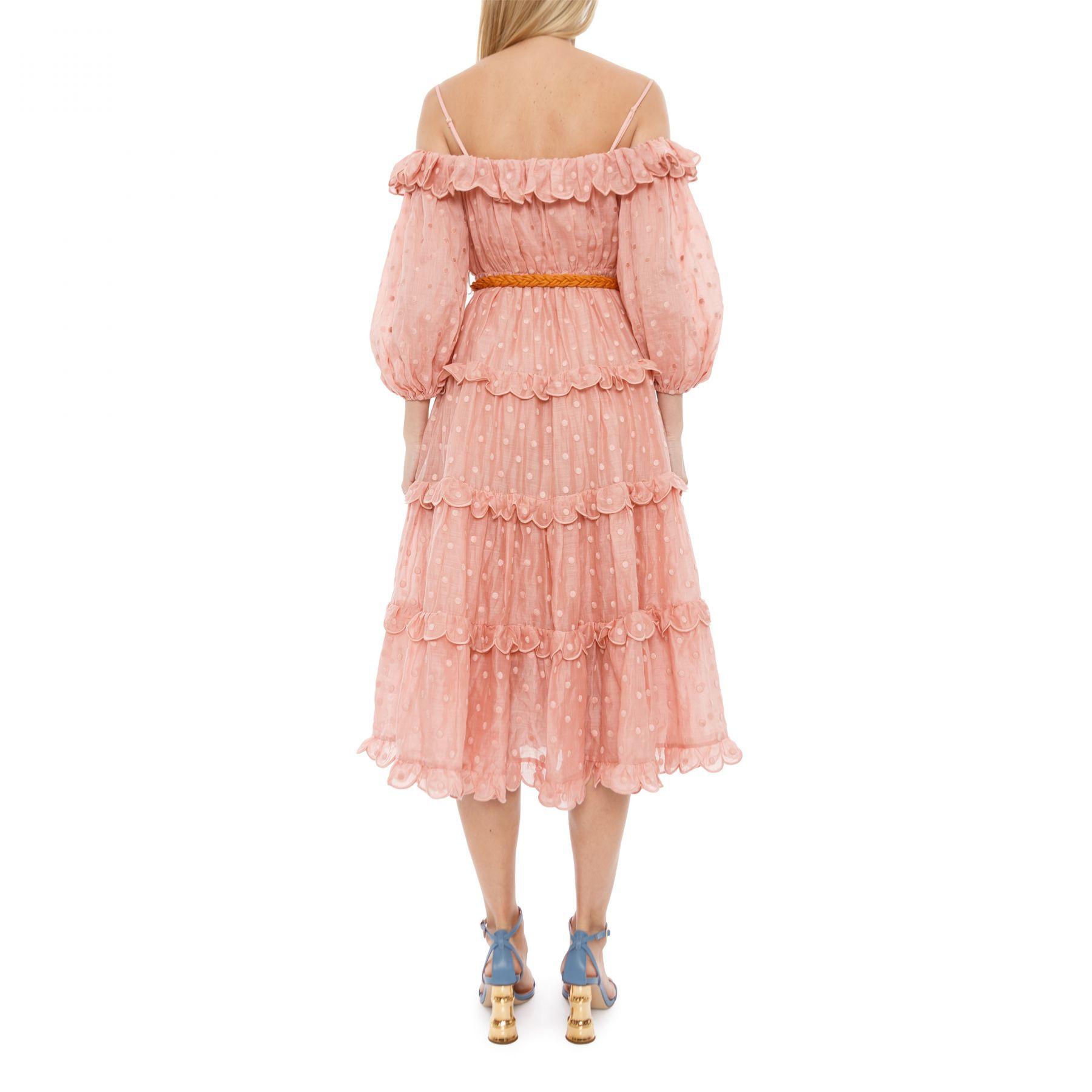 Платье Zimmermann Mae Dot персиковое