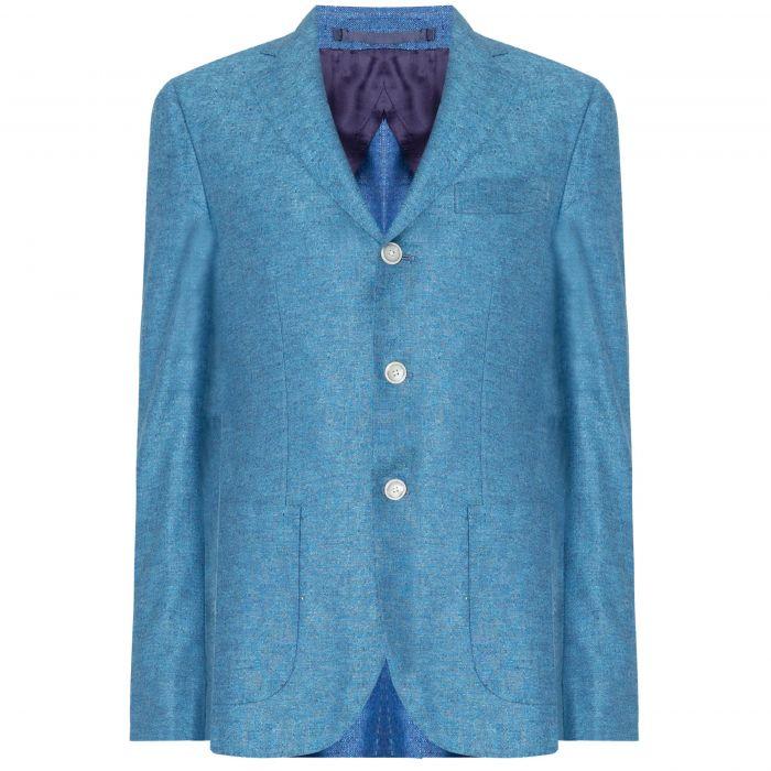 Пиджак Barba Napoli голубой