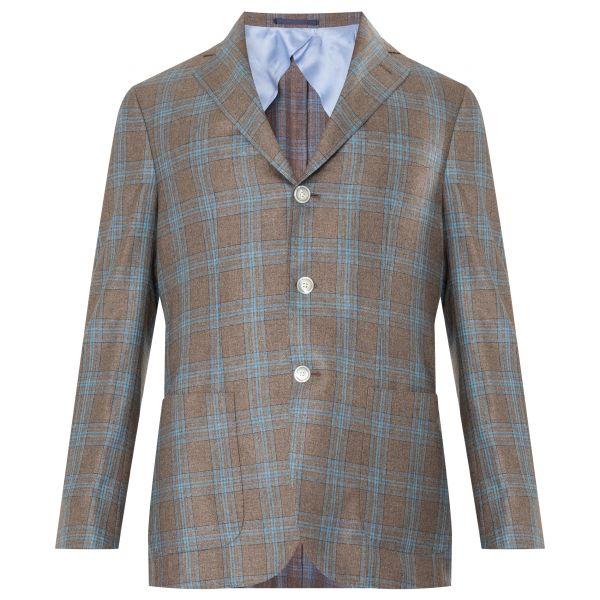 Пиджак Barba Napoli коричнево-голубой