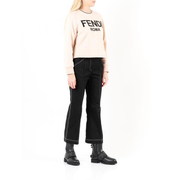Ботинки на меху Fendi черные