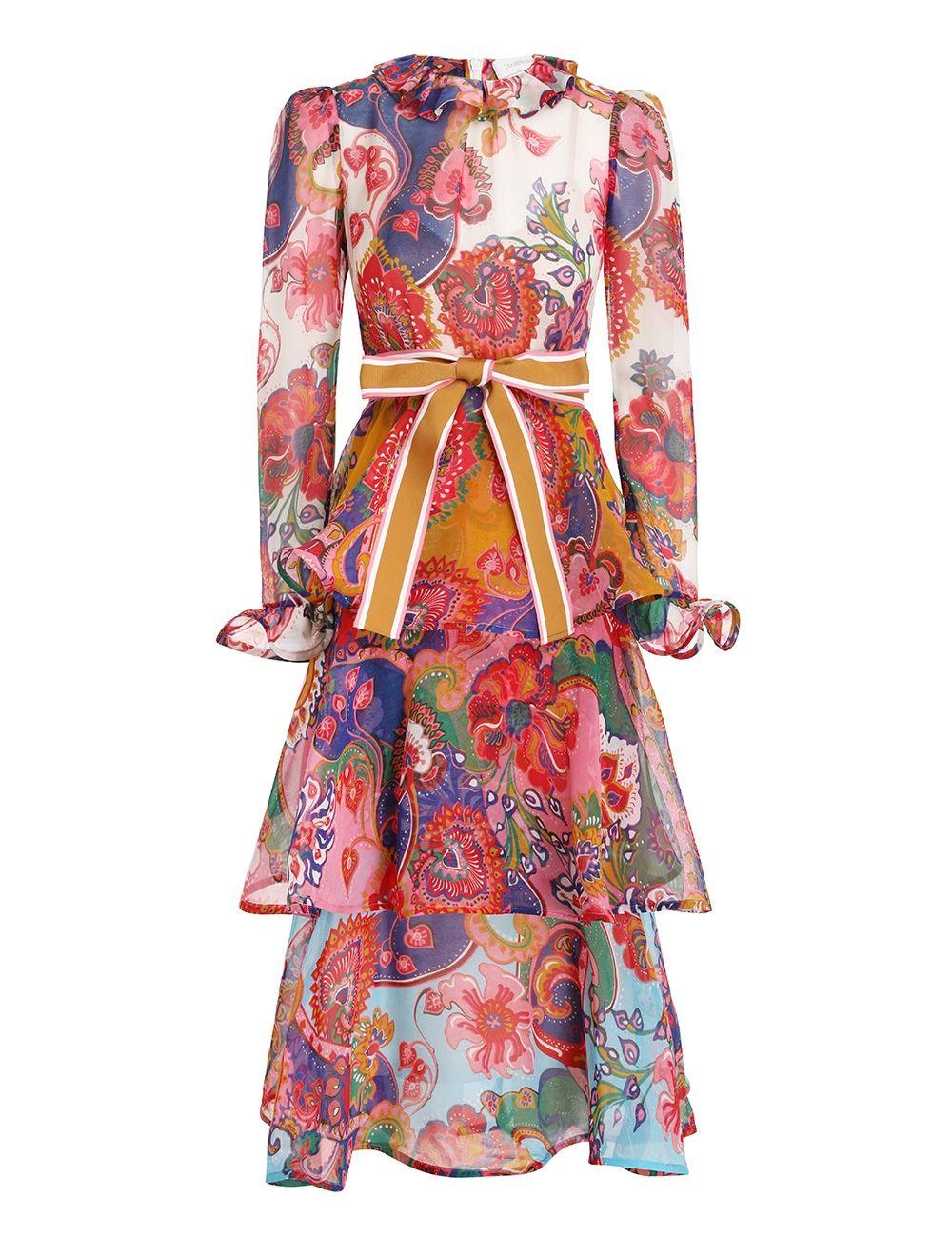 Платье Zimmermann разноцветное