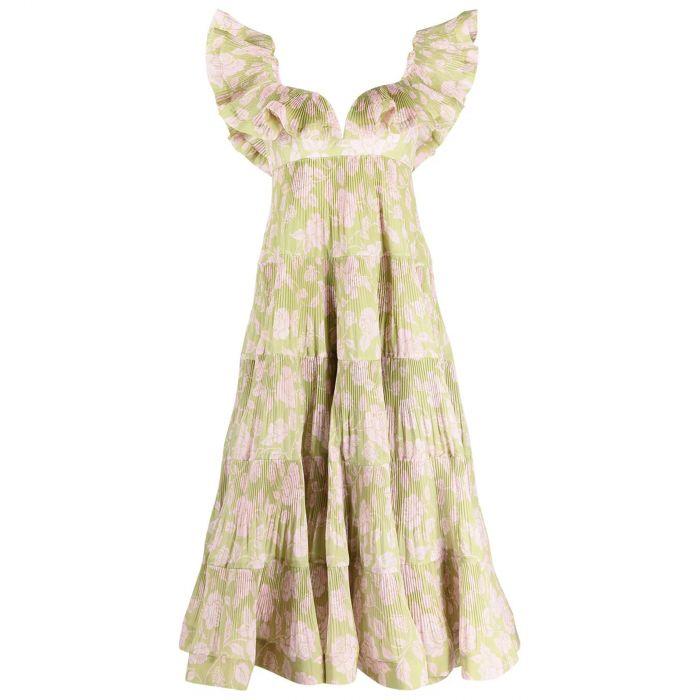 Платье Zimmermann LOVESTRUCK оливковое