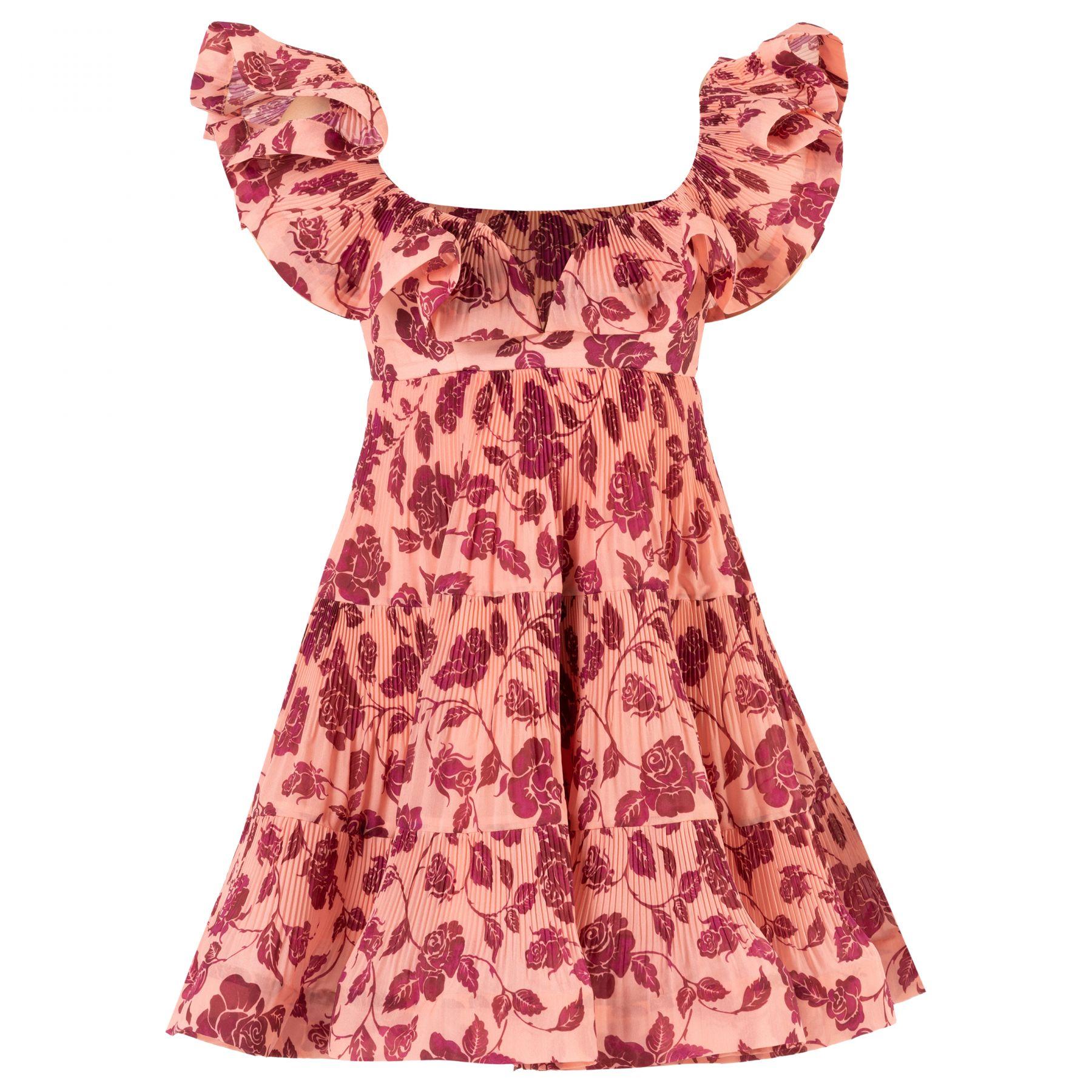 Платье Zimmermann LOVESTRUCK розово-красное