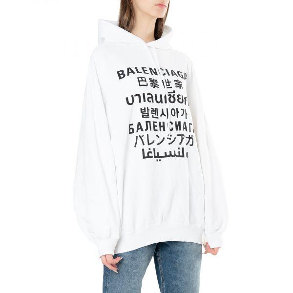 Худи Balenciaga белое