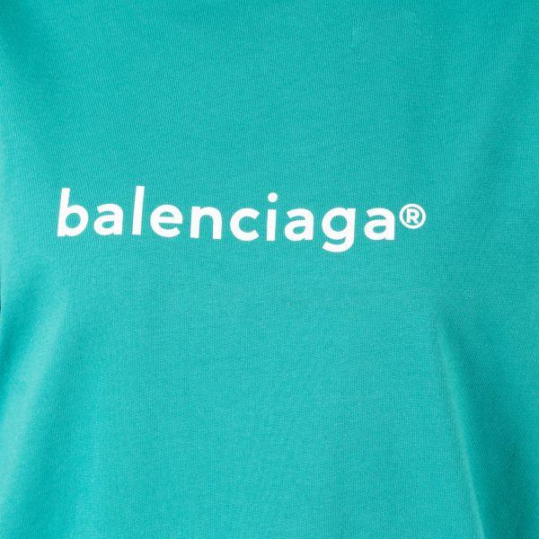 Футболка Balenciaga бирюза
