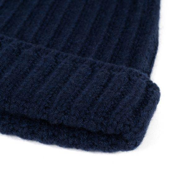 Шапка Bertolo Cashmere темно-синяя