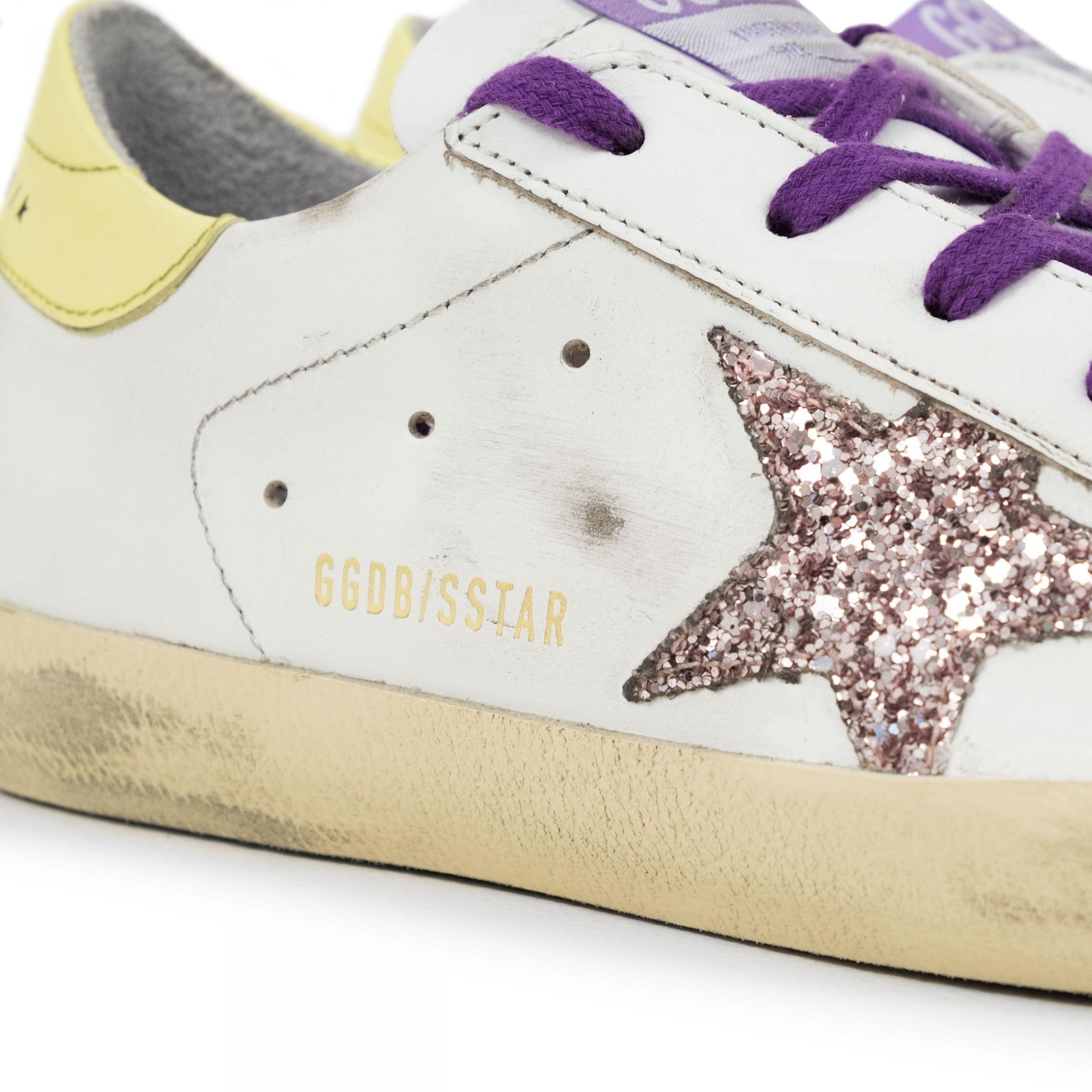 Сникеры Golden Goose Superstar белые