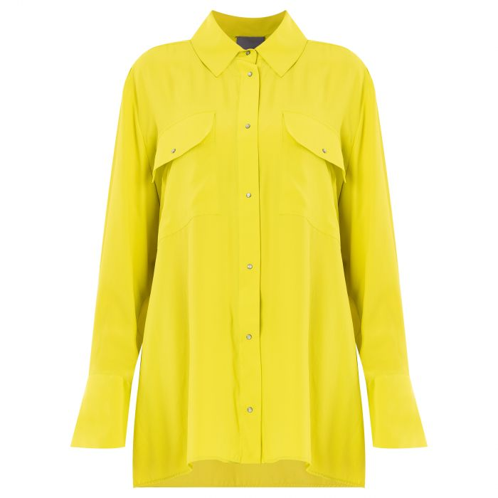 Рубашка с длинными рукавами Lorena Antoniazzi желтая