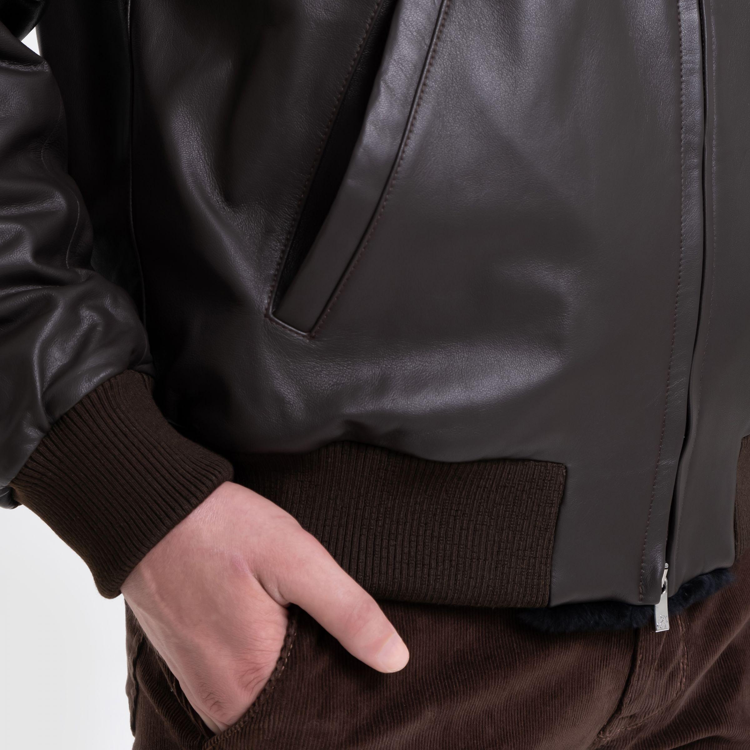 Бомбер Tombolini коричневый