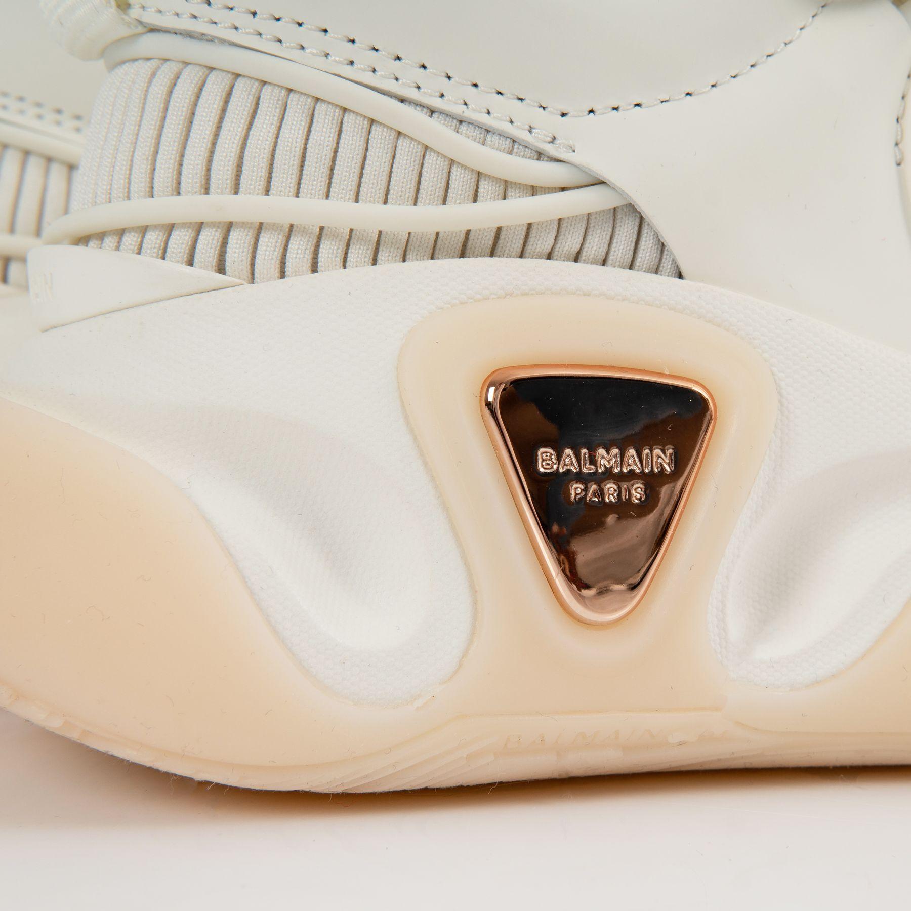 Кроссовки Balmain  B-Runner  белые